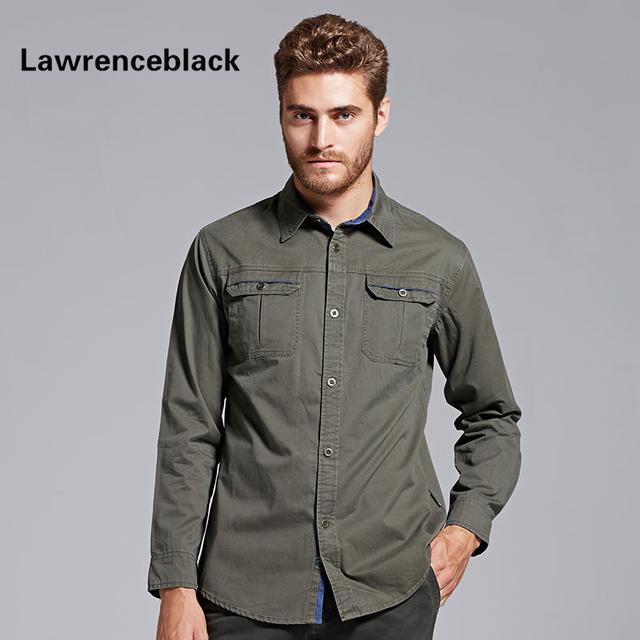 Nova camisa dos homens de lazer clássico fit camisa social masculina manga longa plus size marca-clothing 100% algodão camisas dos homens 150