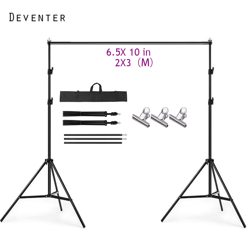 2X3M 6.5X9.8in Alloy Steel Studio Photography Photo Background Kit Support Frame Free delivery of portable bag ashanks pro photography studio photo backdrops frame background support system 2m x 2 4m stands for photo shoot carry bag