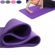 Gimnasio 10mm thickess antideslizante yoga mat pad deporte pilates colchonetas de gimnasia suave almohadillas plegables portátiles bolsas de malla ejercicios de entrenamiento