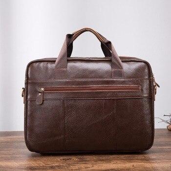 Мужской бизнес-портфель коричневого цвета с масляным воском, античный дизайн, 16 дюймов, для ноутбука, мужской чехол, сумка-мессенджер, сумка-...