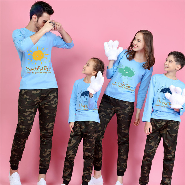 Long sleeve t shirt family matching clothes kawaii baby girls boys t-shirts mother and daughter clothes father son outfits 5xl