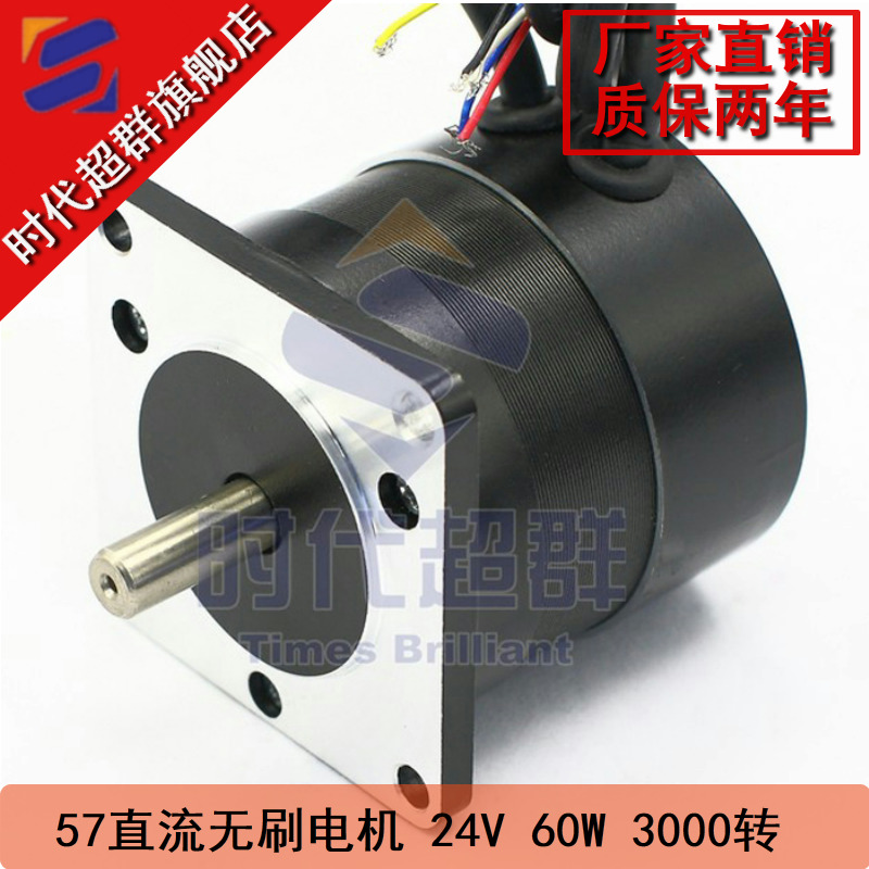 24V 60W <font><b>3000rpm</b></font> 57 DC Brushless <font><b>Motor</b></font> 57BL55S06-230TF9 image