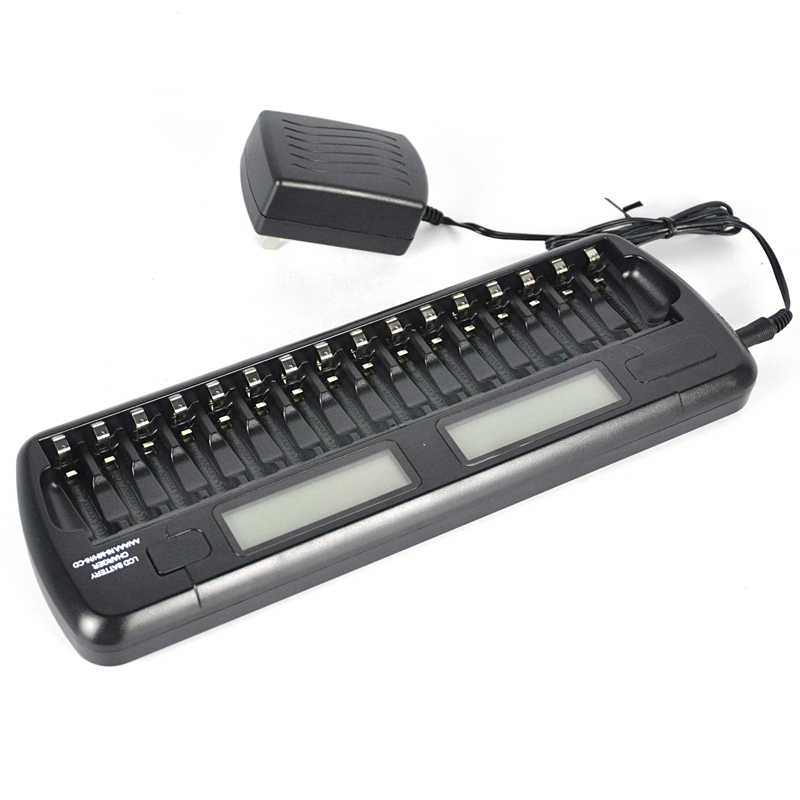 BORUiT Intelligent Battery Charger Two Speedy Smart Charger 16 Battery Slots for 1.2V Ni-MH Ni-CD AAA AA Batteries цены