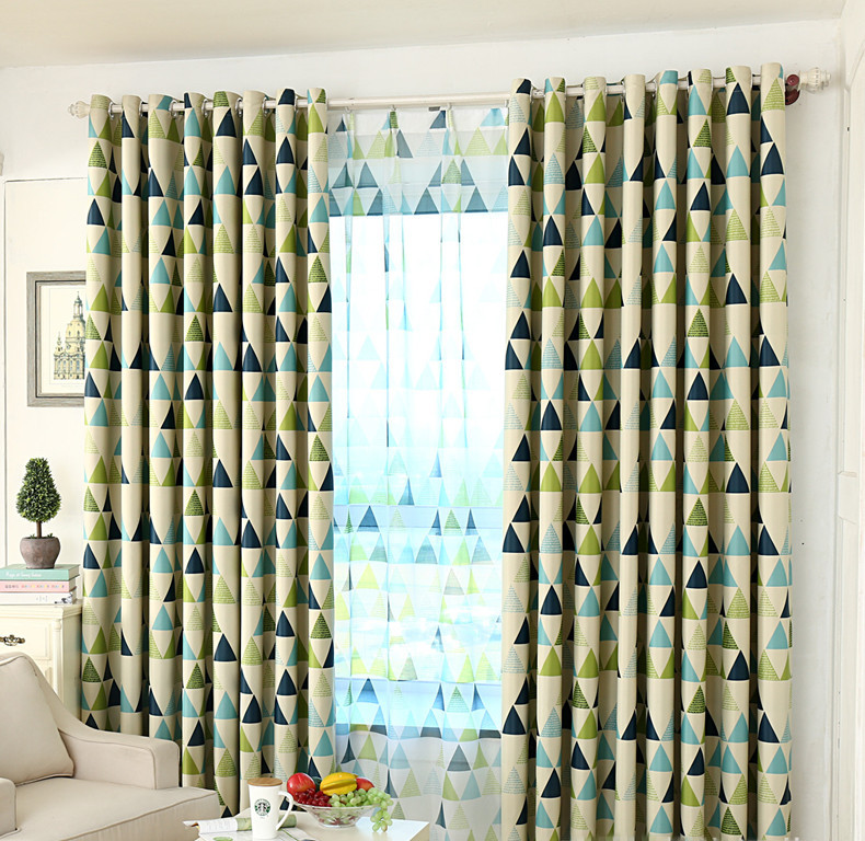 geometric plaid green blackout window curtains for bedding. Black Bedroom Furniture Sets. Home Design Ideas