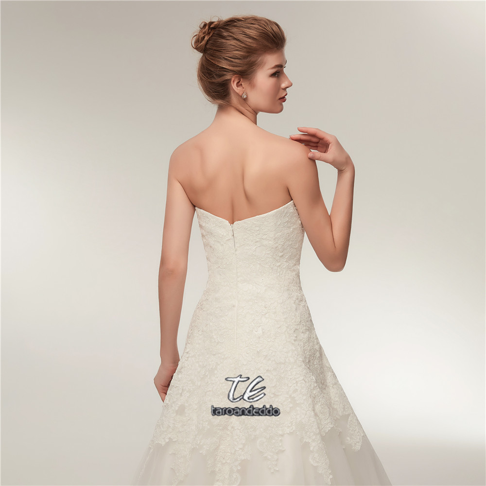 In Stock Style High Quality Original Lace Applique Wedding Dress ...