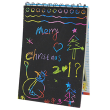 Новые записки с записью на 1 шт. Черные картонные креативные рисунки с рисунком для рисования с ручкой для школьных принадлежностей для школьных игрушек для малышей