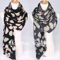 Новый 2016 оптовая продажа женщин хлопка шарф / 100% чистый шелк шифон большой платок / зима шарфы shawls180 * 90 см женщины длинный шарф весна