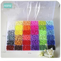 MamimamiHome 36 Color Perler Beads 10000pcs Ironing Beads 5mm Hama Beads Fuse (2Template+5Paper+2Tweezers)Puzzle Diy Drawing Toy