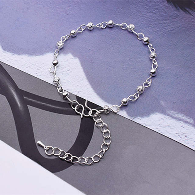2e88505c4 Fashion Exquisite Silver Color Ankles Woman Small Bead Hollow Balls Ankle  Bracelet For Women Beach Foot Accessories Cheap Price-in Anklets from  Jewelry ...