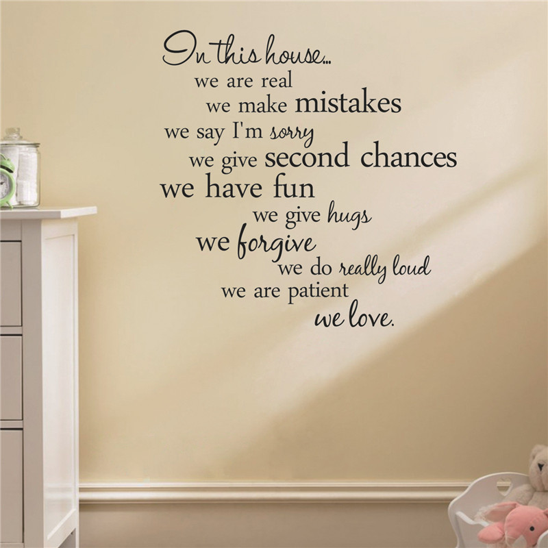 Wall Sticker Quotes Funny Character Pegatinas Infantiles Living Room Wall  Decals Children Removable Wall Sticker Quotes