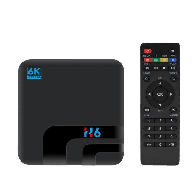 H6 4G 4 GB 32 GB Hộp TV Thông Minh Android 8.1 6 K Allwinner H6 Set Top Box 2.4G WIFI Bluetooth 4.0 Usb3.0 Phương Tiện Truyền Thông (Cắm Anh Quốc)
