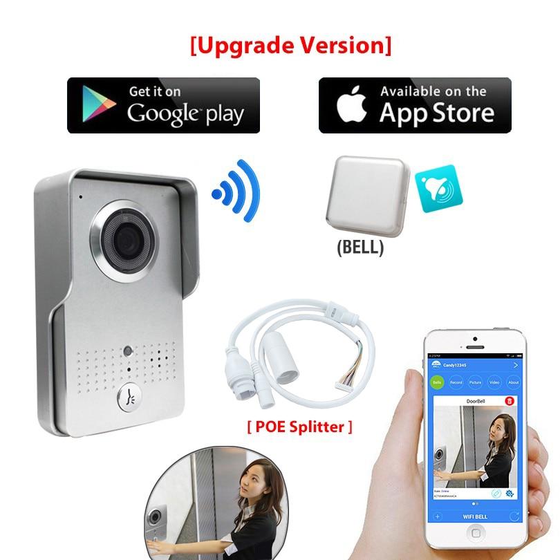 [Upgrade Version] HD 720P Wireless Wifi Video Door Phone Intercom Doorbell Outdoor Camera + Indoor Bell +New APP For Cell Phone