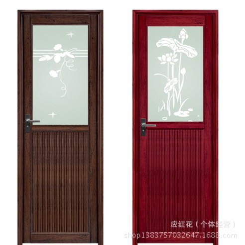 Customizable Bathroom Glass Door Aluminum Swing Aluminum Doors Half Lucky  Pinch