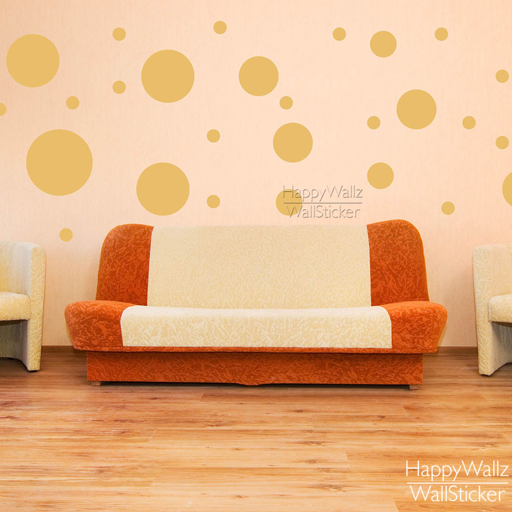 Unique Polka Dots Wall Decor Image - Wall Art Collections ...