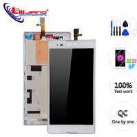 6.0'' Original Display For Sony T2 Ultra D5322 D5303 D5306 XM50h LCD Display Touch Screen Digitizer with Frame Replacement