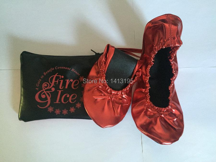 Gratuite Matériau Livraison Ballerine Spécial Plat Femmes Rouge Durable Chaussures Mode Pliable C4w4dqH