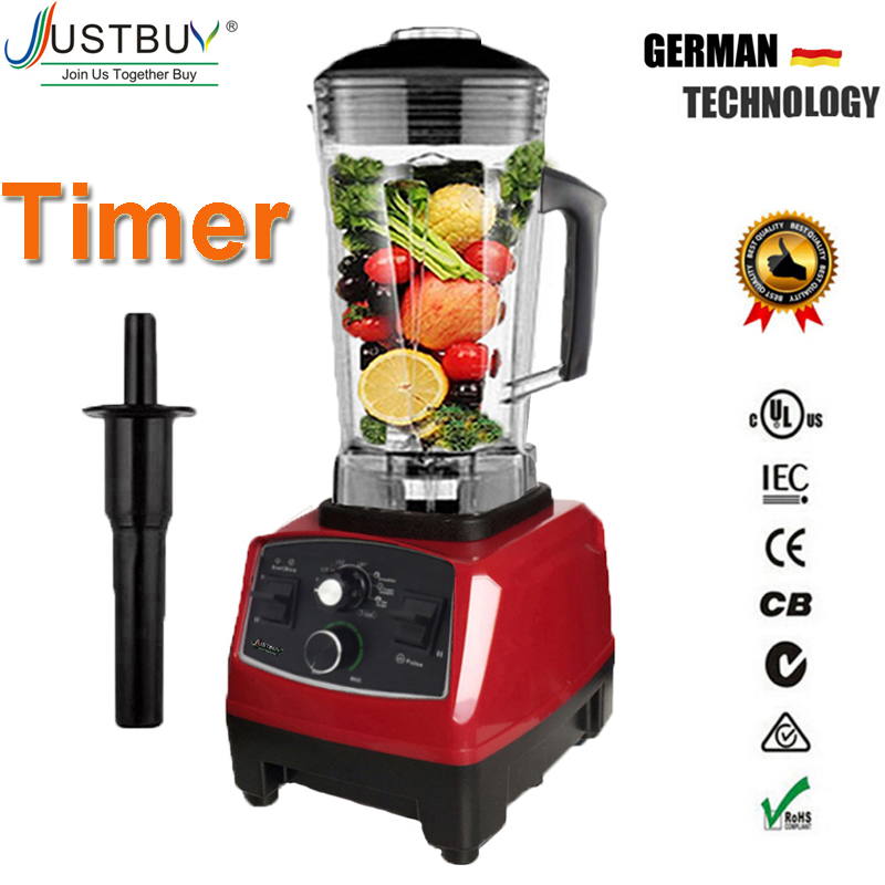 Timer BPA Free 3HP 2200W Heavy Duty Commercial Blender Mixer Juicer High Power Food Processor Ice Smoothie Bar Fruit Blender