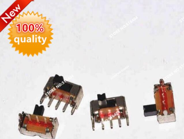 100PCS/Lot SK12D07 SK12D07VG4 Toggle Switch 1P2T 3PIN Miniature Side Slide Switch