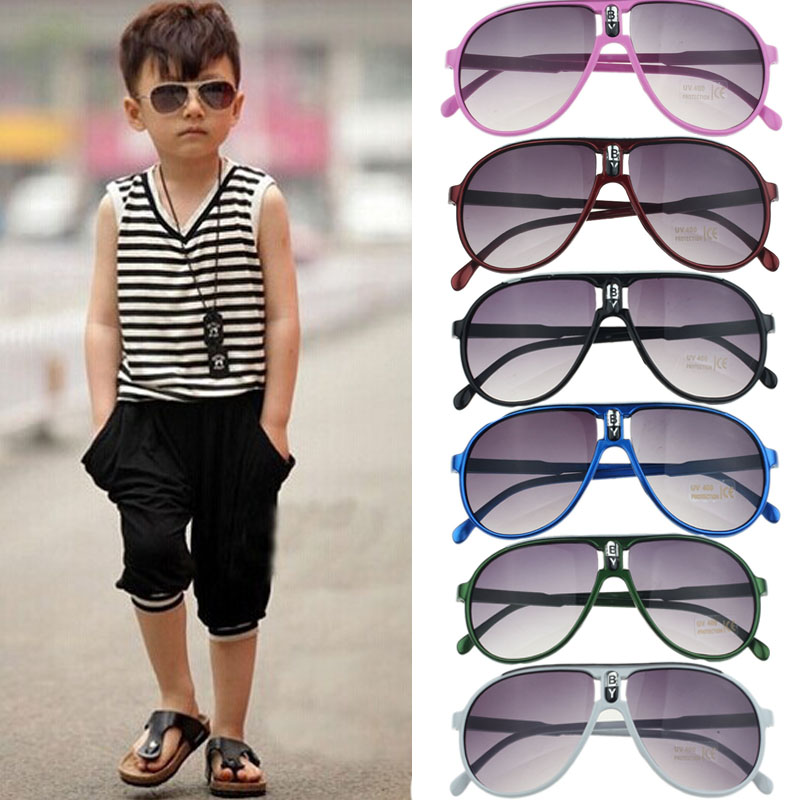 Sunglasses men women 2018 Child Children Boy Girl Kid Plastic Frame Sunglasses Goggles