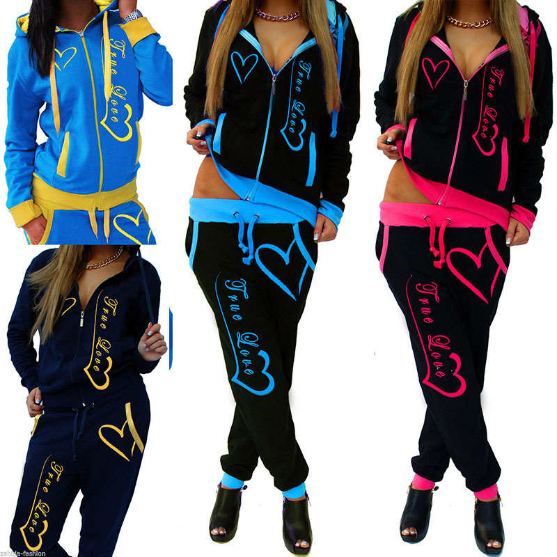 Voobuyla-2-PCS-Women-Running-Set-Fitness-Gym-Clothes-Long-Sleeve-Print-Tennis-Jacket-Pants-Leggings