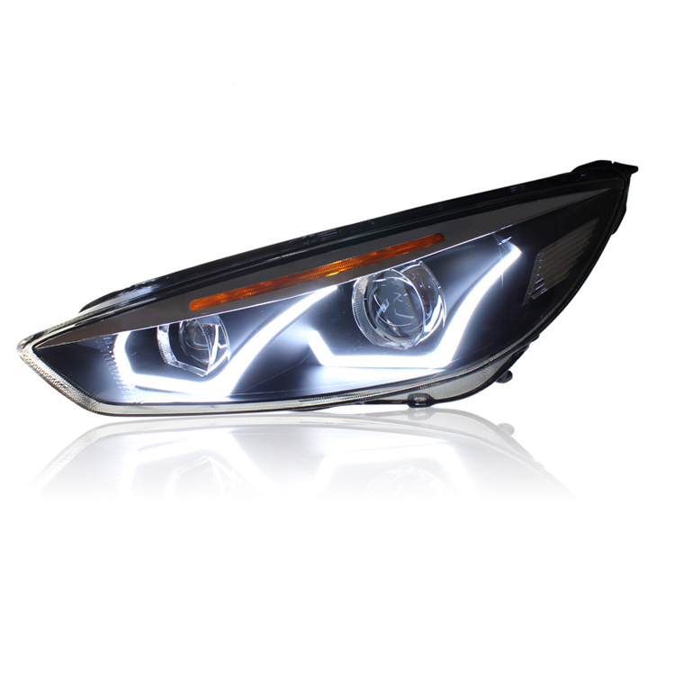 Ownsun New Eagle Eyes LED DRL Bi-xenon Projector Lens Headlights For Ford Focus 2015 ownsun new style tear drop led projector lens headlight for new ford focus 2012 2013