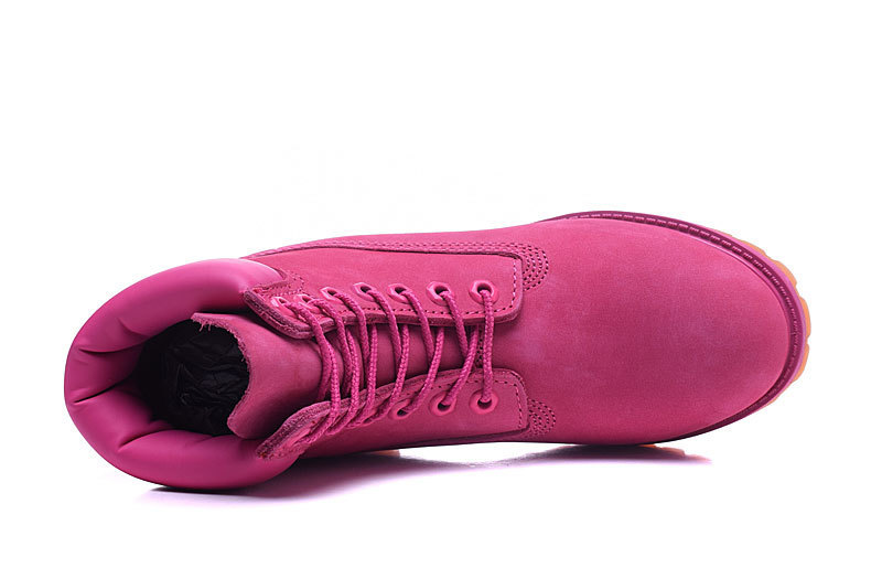 Original TIMBERLAND Women 10061 Pink Winter Boots,Woman Female Lovely Genuine Leather Ankle Anti-Slip Outdoor Warm Shoes 36-39.5 2