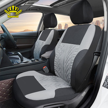 ROWNFUR Polyester Auto Bekleding Universele Fit Meest Auto 'S Seat Protector Vier Seizoenen Auto Covers Voor Zetel Interieur Styling 1 set(China)