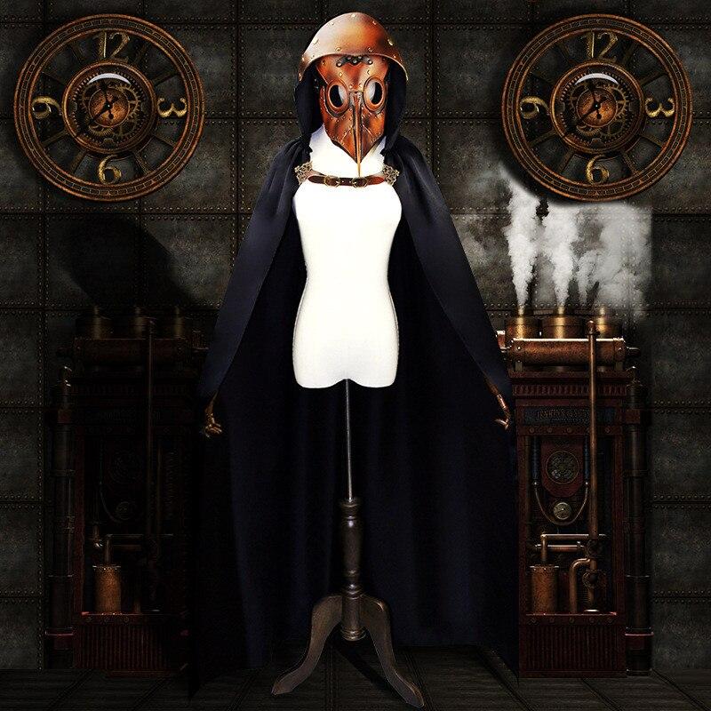 Takerlama Nuovo Stile Steampunk Capo Gothic Mantello Wicca Robe Strega Del Capo Unisex Halloween Costumi Vampiri Operato Del Partito Di Cosplay Comodo E Facile Da Indossare