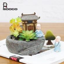 Roogo zen gerden цветочные горшки горшок для суккулентов в виде
