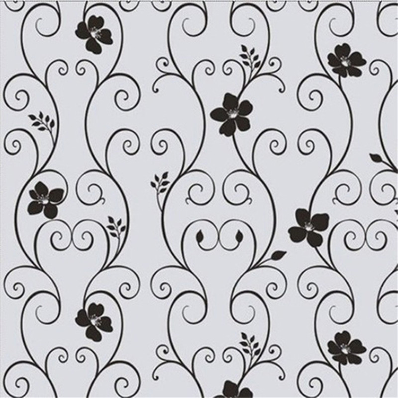pvc frosted privacy cover glass wall sticker window door black flower stickers film adhesive home office decor 45 x 100cmin wall stickers from home