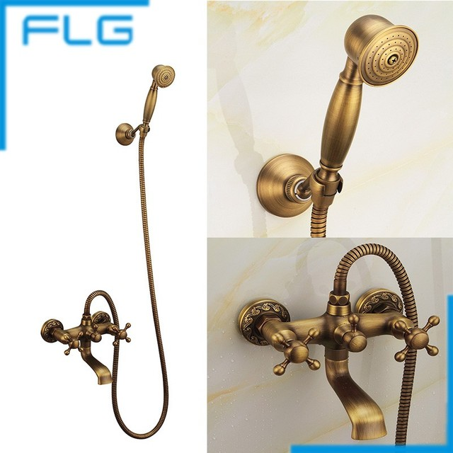 Bathroom Shower Faucet Bath Faucet Mixer Tap Wall Mounted Antique ...