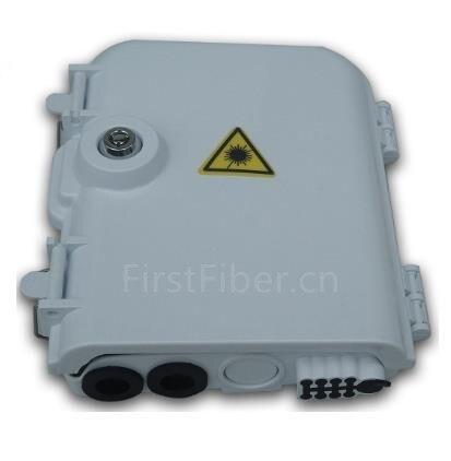 FirstFiber FTTH 8 Cores Fiber Termination Box 8 Port 8 Channel Splitter Box Indoor Outdoor Fiber Optical Splitter Box FTB ABS