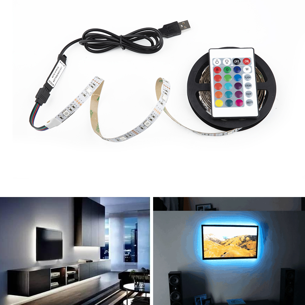 5v 1m 2m Nowaterproof Rgb 5050smd Led Strip Can Change
