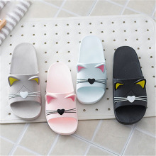 New Summer Women Shoes Cute Animal Sliders Cartoon Flip Flops Sandal Home Bathroom Slippers