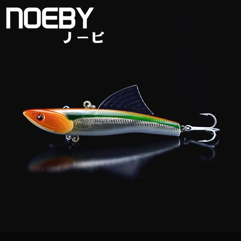 NOEBY 1Pcs Fishing Lure 90mm/28g 0.5-2.0m Sinking Super VIB Lures Isca Fins Hard Baits VMC Treble Hooks Crankbait Leurre Wobbler