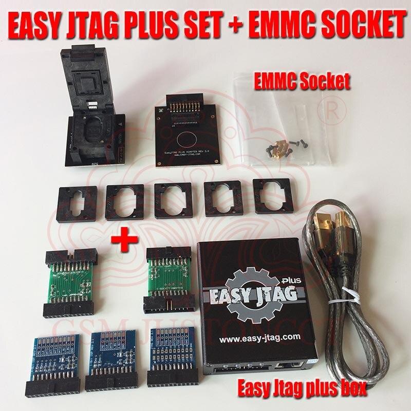 Boîtier d'origine Easy-Jtag plus boîtier facile Jtag plus activé avec prise EMMC pour HTC/Huawei/LG/Motorola/Samsung/SONY