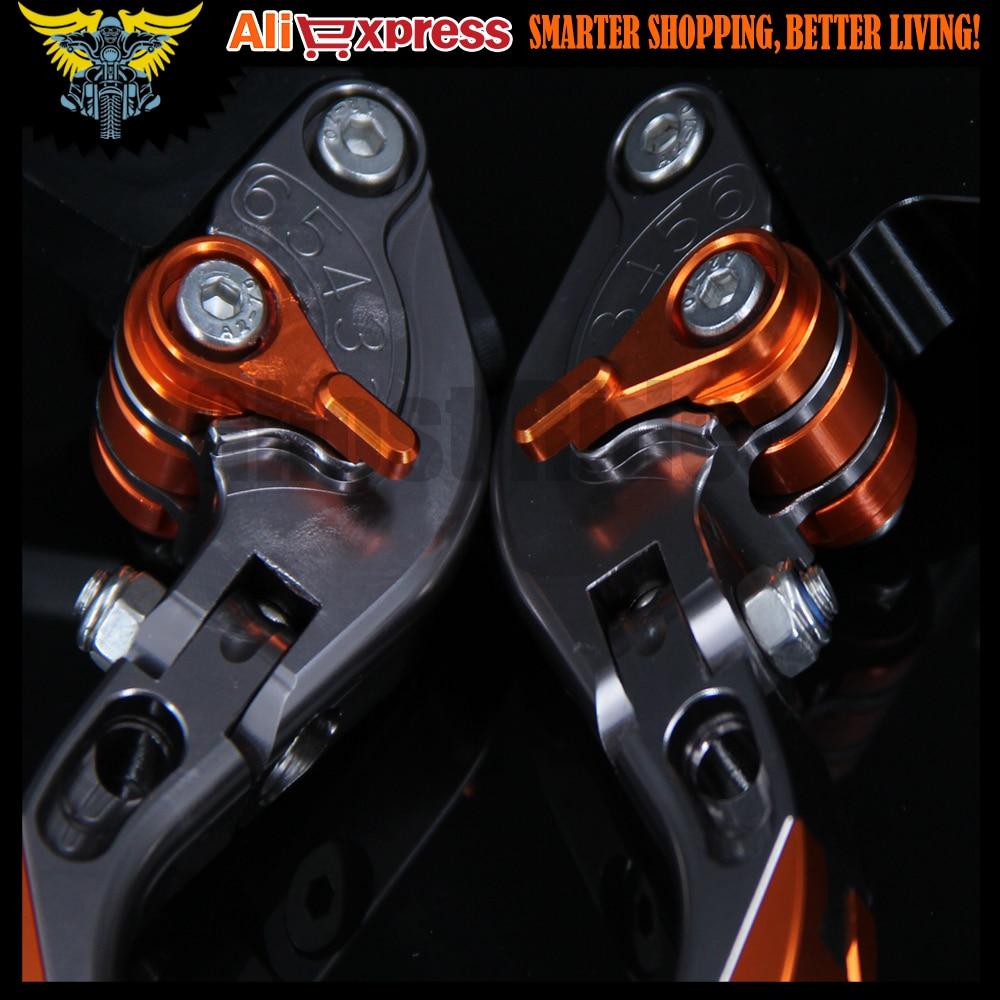 Laser Logo Z800 Titanium Moto CNC extensible leviers de frein dembrayage pour Kawasaki Z800//E Version 2013/2014/2015/2016 Orange