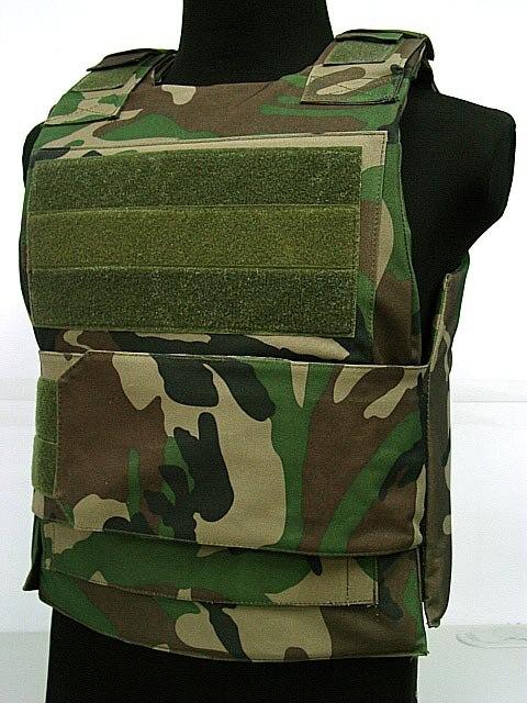 Лидер продаж, тактический жилет, армейский жилет с наружной военной игрой, жилет с моллом, черный цвет, полицейский жилет, нагрудная установка, военный жилет - Цвет: Woodland Camo