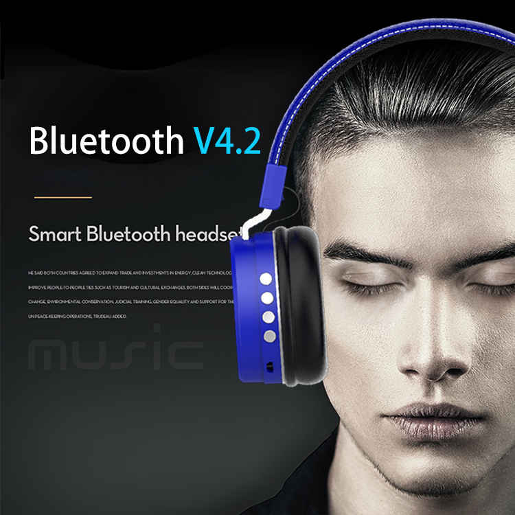 headphones Bluetooth Headset earphone Wireless Headphones Stereo Foldable Sport Earphone Microphone headset Handfree MP3 player (2)