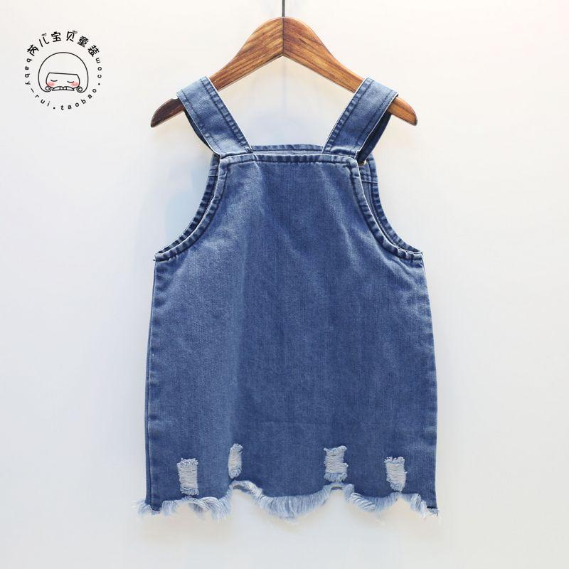 68ad42fa4 item name 2017 new baby girls clothes denim girls dress sleeveless ...