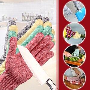 Image 4 - לחתוך עמיד כפפות רמת 5 GMG ססגוניות HPPE מזון כיתה למטבח אנטי לחתוך כפפות לחתוך הוכחת כפפות