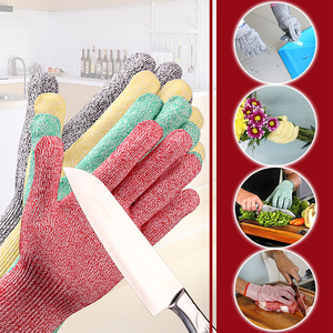Image 4 - Cut Resistant Gloves Level 5 GMG Multicolor HPPE Food Grade For Kitchen Anti Cut Gloves Cut Proof Gloves
