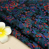 75x100cm Top Quality Imported Flower Style Metallic Jacquard Brocade Fabric 3D Jacquard Yarn Dyed Fabric For