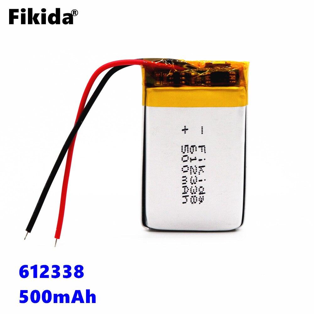 Lautsprecher Handy Gps Mp3 Fikida Polymer Batterie 550 Mah 3,7 V 612338 Smart Home Mp3 Lautsprecher Li-ion Batterie Für Dvr Mp4