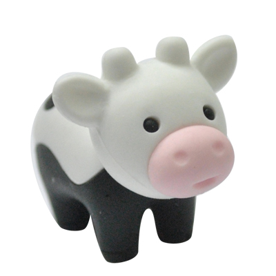 Farming Cow Eraser Kawaii Cattle Magic Design Eraser Cartoon  Animal Shaped Eraser Fancy Cute 3D Pencil Eraser Opp Plastic Bags
