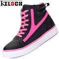 Sheos Keloch Nuevas Mujeres Ocasionales Punta Redonda con cordones Altura Aumento de Zapatos Sencillos Gruesos Zapatos de Suela De Masaje Lindo Tobillo zapatos