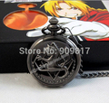 Antigo Novo tom de prata Fullmetal Alchemist Pocket Watch Cosplay Edward Elric Anime relógios Presente 1 pcs