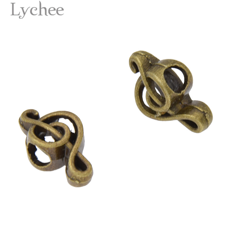 Lychee 10pcs Hip Hop Alloy Musical Note Hollow Hair Braid Dread Dreadlock Beads Clips Cuff Headwear Jewelry Men Women