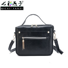 QICAI.YANZI Women Shoulder Bag Daily Clutchs Handbag Female Tassel Horizontal Zipper Portable Box Casual Solid Flap Bags P538