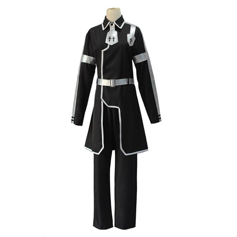 Anime Sword Art Online Alicization Kirigaya Kazuto Cosplay Costumes SAO Kirito Black Uniform Halloween Party Costume